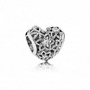 Charm en plata de ley Corazón Floreciente 796264CZ - 2393095
