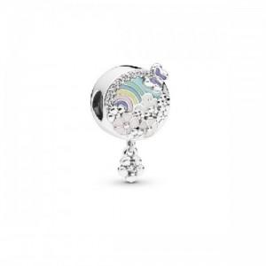 Charm en plata de ley Historia Flores Coloridas 797999ENMX - 2393837