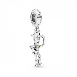 Disney Woody silver dangle with black an - 2393928