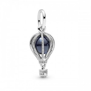 Air balloon silver dangle with encased m - 2393937