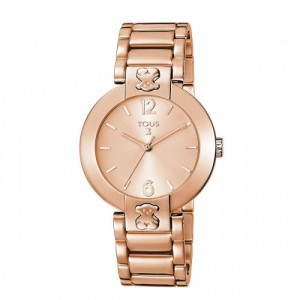 Reloj Plate Round de acero IP rosadoRef. 400350950 - 2490244