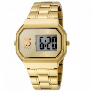 Reloj D-Bear Digital de acero IP dorado Ref. 600350300