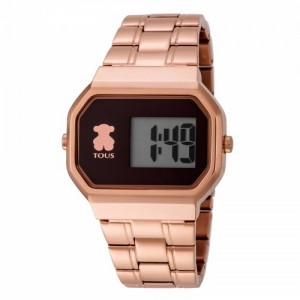 Reloj D-Bear Digital de acero IP rosado ref 600350305