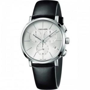 Calvin Klein Reloj Cronógrafo para Hombre de Cuarzo con Correa en Cuero K8Q371C6 - 1661410