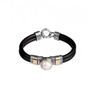 Pulsera plata y oro perla Styliano - 2670168