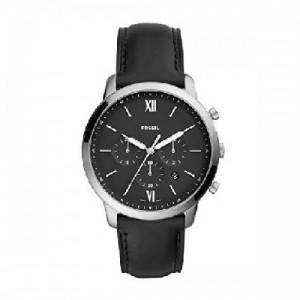Fossil FS5452 Reloj Caballero, Correa Piel Negro, Caratula Negro - 1101530