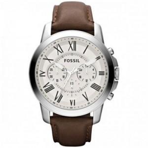 Fossil Reloj Cronógrafo para Hombre de Cuarzo con Correa en Cuero FS4735IE - 1101547