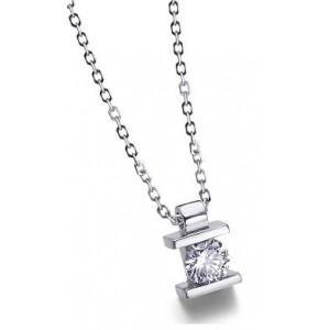 Colgante y cadena.0.50.ct. oro diamante.Paralela - COPA