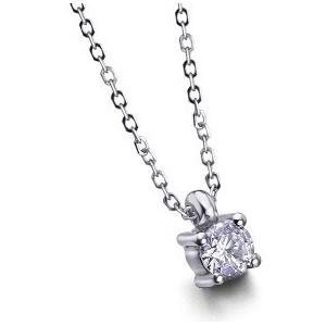 Colgante y cadena.0.25.ct. Oro diamante.Grapa - COGRA