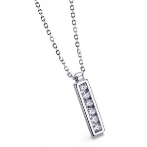 Colgante y cadena.Oro diamante.Carre - COCA