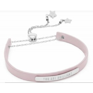 WONDERFUL WORDS / BRACELET / SILVER&PINK - 0190489