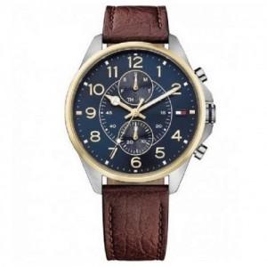 Tommy Hilfiger Reloj Analógico para Hombre de Cuarzo con Correa en Piel 1791275