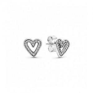 PENDIENTES PANDORA PLATA HEART STERLING-298685C01 - 298685C01