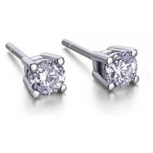 Pendientes oro diamantes.0.50.ct.Grapa - PEGRA