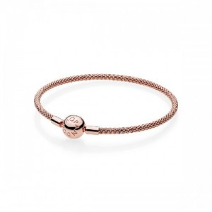 Pulsera Moments en Pandora Rose Malla para charms - 586543