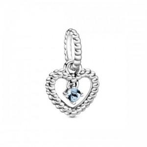 Charm colgante en plata de ley con esferas Azul Agua