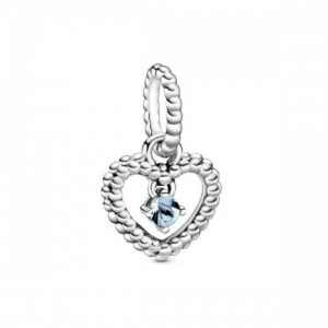 Heart sterling silver dangle with water  - 2394116