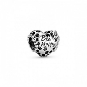 Honeycomb and heart sterling silver char - 2394198