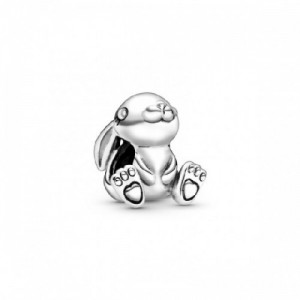 Rabbit sterling silver charm - 2394219
