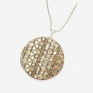 Collar plata nacar con circonita cava - 9842