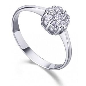 Anillo oro y diamante Modelo Roseton