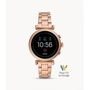 Reloj inteligente Gen 4 Sloan HR de acero inoxidable en tono dorado rosa