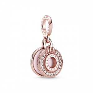 Crown O Pandora Rose dangle with clear c